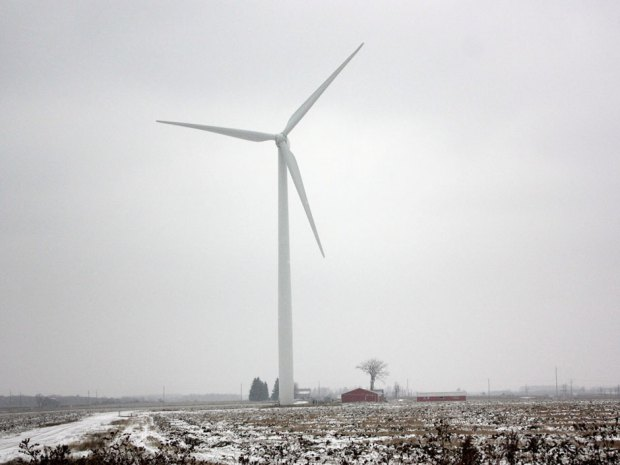 "Wind turbines produce audible sound waves known to cause what medical science calls ""annoyance,"" a state of health that can lead to a constellation of illnesses called wind turbine syndrome (WTS). Credit:  THE CANADIAN PRESS / Colin Perkel."