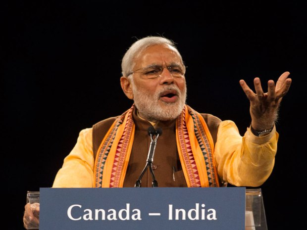 Indian Prime Minister Narendra Modi addresses a crowd during an event in Toronto. For the immediate future, India has announced that it will double its coal use by 2020, in the process overtaking the U.S. as the world's second largest coal consumer after China. The Canadian Press/Chris Young.